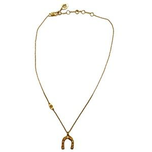 JUICY COUTURE Goldtone Horseshoe Crystal Necklace